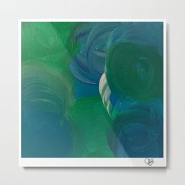 green blue ocean with a silver lining Metal Print