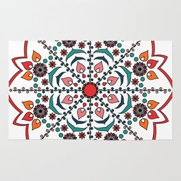 Hungarian colors mandala Rug