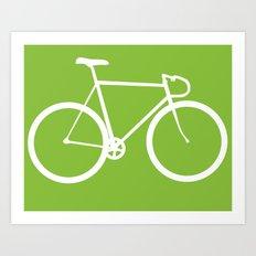 Fixed gear bike Art Print
