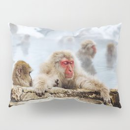 The Japanese macaque also known as the snow monkey Pillow Sham