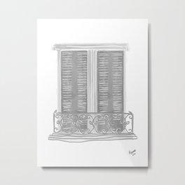 Gray Balcony Metal Print