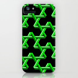 Impossible Green Triangles iPhone Case