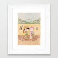 moonrise kingdom Framed Art Prints featuring moonrise kingdom by yohan sacre