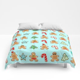 Naughty or Nice Gingerbread Comforters