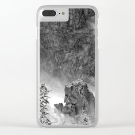 Rocks in the falls Clear iPhone Case
