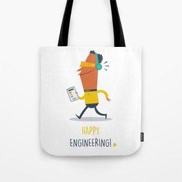 Happy Engineering Tote Bag
