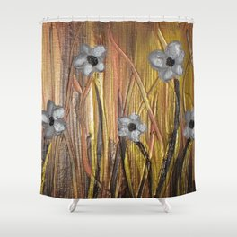 Shining Through The Flowers Shower Curtain