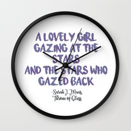 STARS | purple Wall Clock