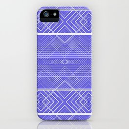Purple Southwestern Diamond Design iPhone Case