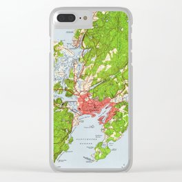 Vintage Map of Gloucester Massachusetts (1949) Clear iPhone Case
