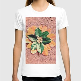Peach and Flower T-shirt