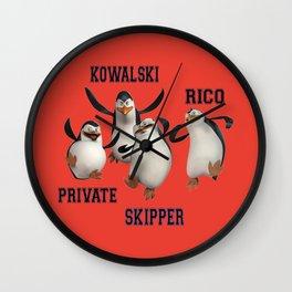 Penguins of Madagascar Wall Clock