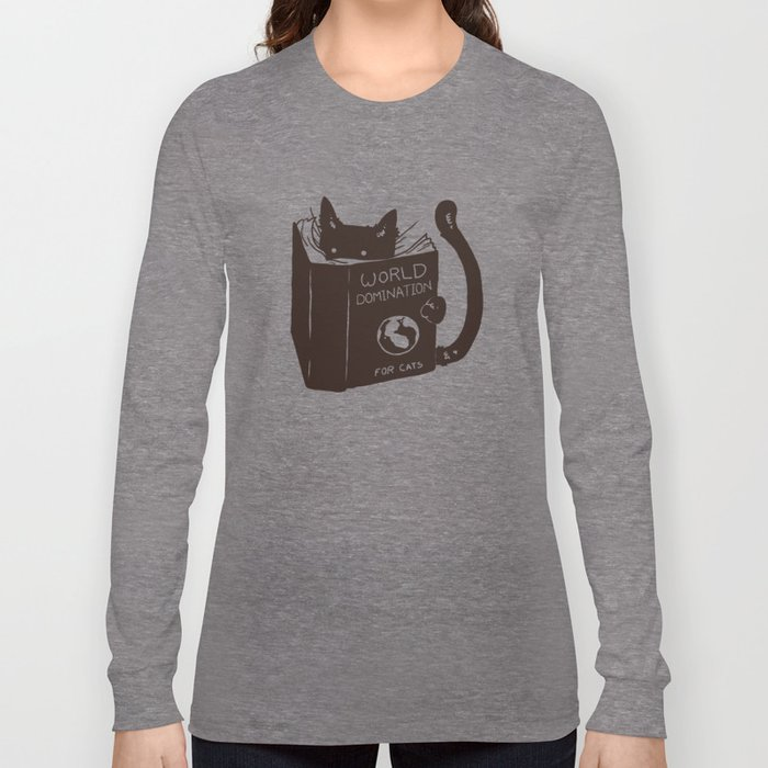 World Domination for Cats (Green) Long Sleeve T-shirt