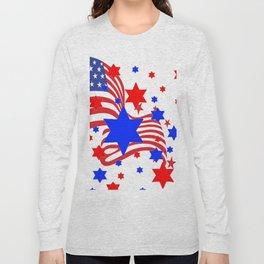 PATRIOTIC JULY 4TH AMERICAN FLAG ART Long Sleeve T-shirt