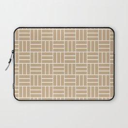 Basketweave (White & Tan Pattern) Laptop Sleeve