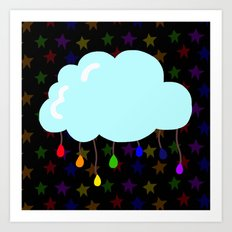 I wish it could rain colors Art Print