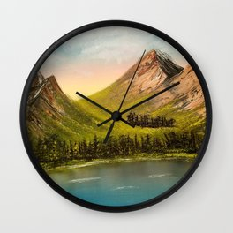 Peaceful Peaks Wall Clock