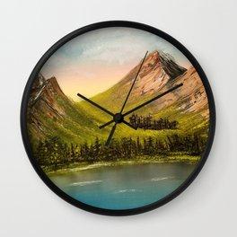 Peaceful Peaks Wall Clock
