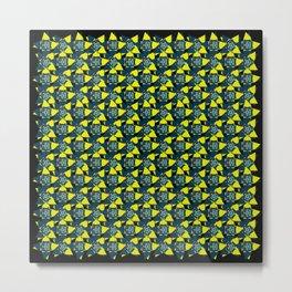 4leaf clover yellow Metal Print