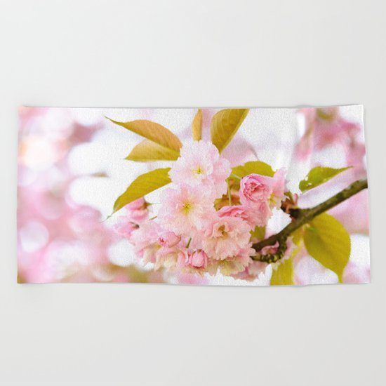Sakura - Cherryblossom - Cherry blossom - Pink flowers on #Society6 Beach Towel
