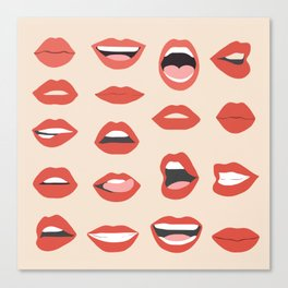Lips III Canvas Print