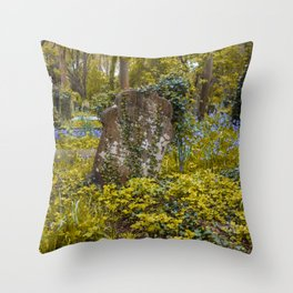 Tombstone in Highgate Throw Pillow
