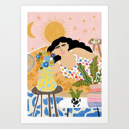 Cozy saturday evening Art Print