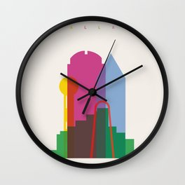 Shapes of Dallas. Accurate to scale. Wall Clock