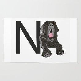 N is for Neapolitan Mastiff Rug