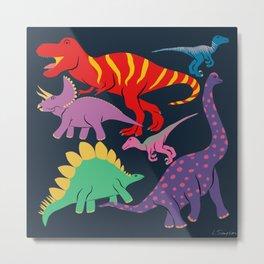Dinosaur Domination - Dark Metal Print