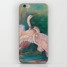 Egrets in the Mist iPhone Skin
