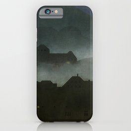 small town with castle iPhone Case