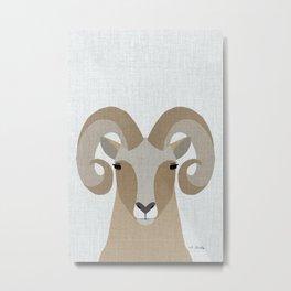Modern Bighorn Sheep Metal Print