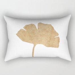 Ginko leaf gold brown Rectangular Pillow