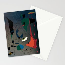 Miró's Ghost Wakes Up from a Bad Reality Stationery Cards