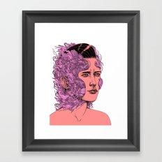 transformation portrait part 1 Framed Art Print