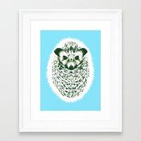 hedgehog Framed Art Prints featuring hedgehog by barmalisiRTB