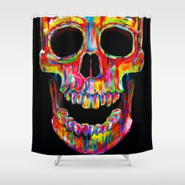 Chromatic Skull Shower Curtain