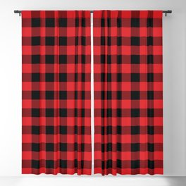 Buffalo Plaid Christmas Red and Black Check Blackout Curtain