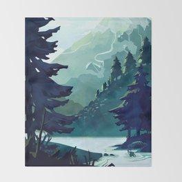 Canadian Mountain Throw Blanket