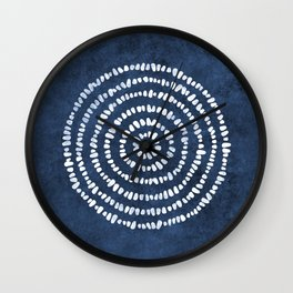Meditation in Navy Wall Clock