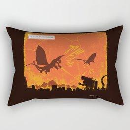 Kaiju War Rectangular Pillow