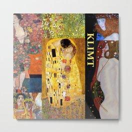 Klimt Collage Metal Print
