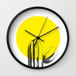 Sunset Minimal Cactus Wall Clock
