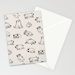 More Sleep Pug Stationery Cards