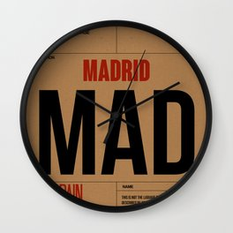 MAD Madrid Luggage Tag 2 Wall Clock