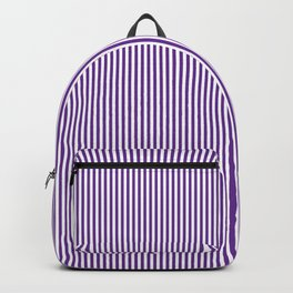 Purple Pinstripes Backpack