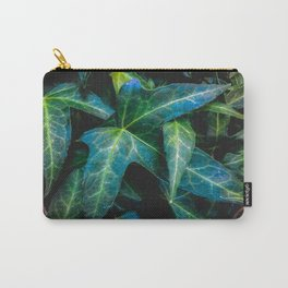 closeup green ivy leaves texture background Carry-All Pouch