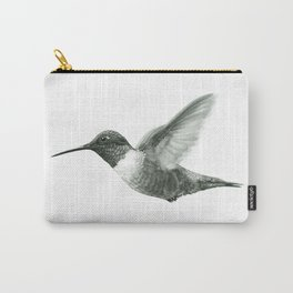 Ruby-Throated Hummingbird Drawing Carry-All Pouch