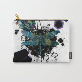 Modern Geometric Dragonfly Carry-All Pouch
